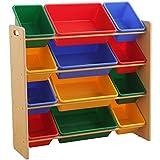 おもちゃ箱 ラック 4段 ビビット 幅86.2×奥行31×高さ71cm THR-4