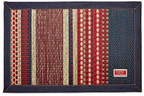 イケヒコ い草マット 国産 袋織 『Fラルフ』 ブルー 約60×90cm (裏:ウレタン)