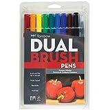 トンボ鉛筆 筆ペン デュアルブラッシュペン ABT プライマリー 10本セット AB-T10CPR
