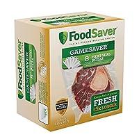 FoodSaver(フードセーバー) GameSaver真空シールロングロール BPAフリー マルチレイヤー構造 8インチ x 20フィート 6個パック