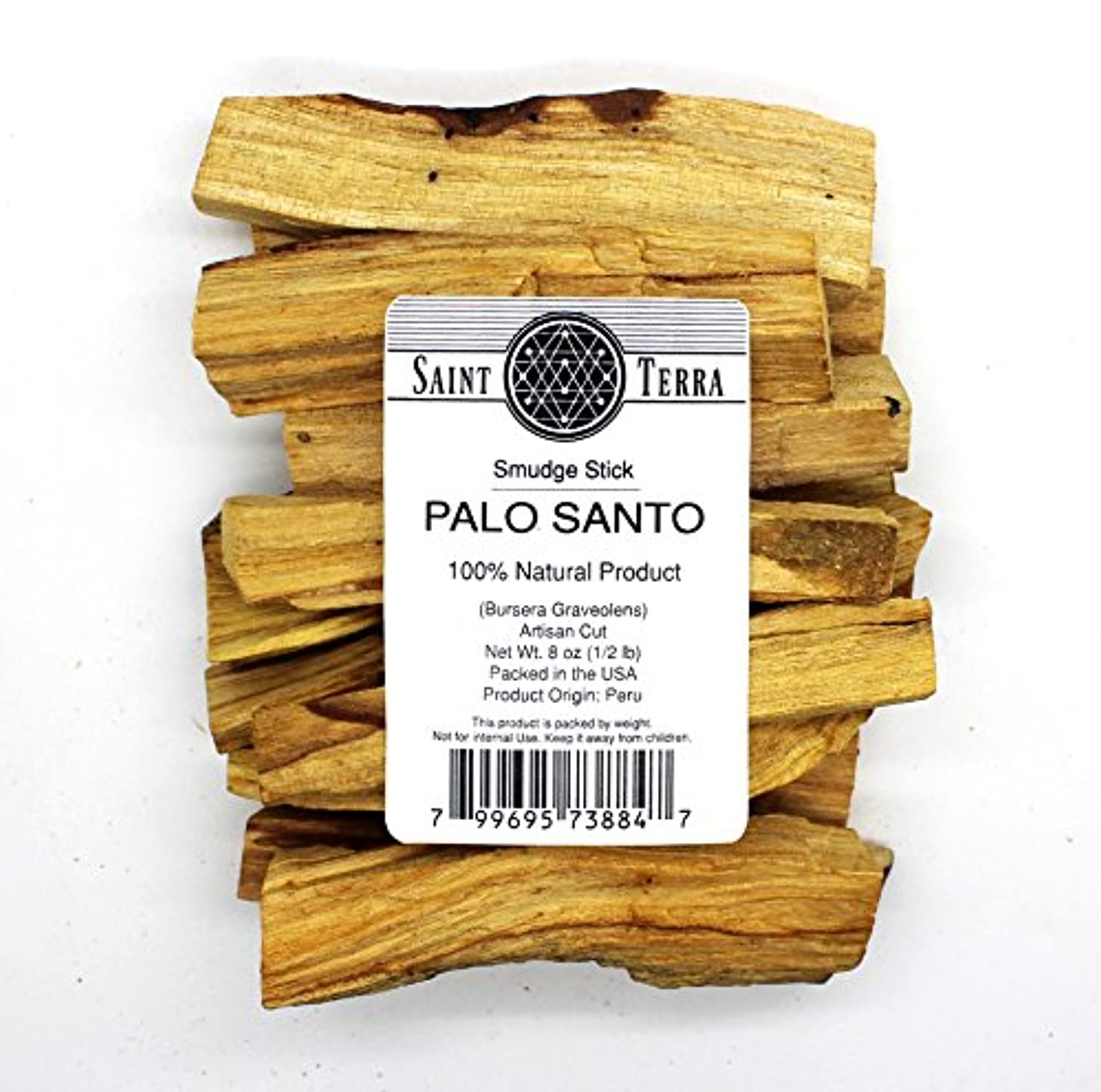 とらえどころのないはげパイントSaint Terra – プレミアムPalo SantoHoly Wood8オンスパックアーティザンカットSmudge Stick – 100 % Natural