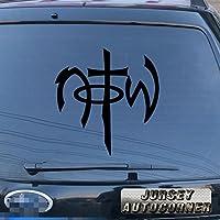 3s MOTORLINE Not of This World NOTWデカールステッカー車ビニールJesus God Sign Die Cut Pickサイズカラー 12'' (30.5cm) ブラック 20180330s5