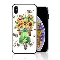 iPhone XS Max 携帯カバー You are My Sunshine 向日葵 みつばち カバー TPU 薄型ケース 防塵 保護カバー 携帯ケース アイフォンケース 対応 ソフト 衝撃吸収 アイフォン スマートフォンケース 耐久