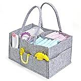 [Jiyaru] 収納ボックス フェルト おむつストッカー おむつ 収納袋 オムツ ストッカー ボックス おむつ 収納ケース マザーズバッグ 折りたたみ 仕切り 大容量 多機能 出産祝い