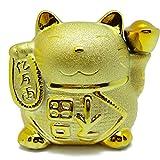 金運アップの金色招き猫貯金箱 座布団付き