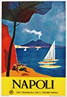 """tv87ヴィンテージ1960年のイタリアNapoliナポリイタリア旅行観光ポスターre-print–a1a2a3 A2+ (610 x 432mm) 24"""" x 17"""" TV87A2"""