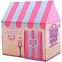 llzj Children Play Tent House CastleプリンセスPrinceインドアアウトドア使用Portable Folding Carry CubbyケースPlayground登山ストレージおもちゃゲームtent-0325