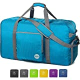 WANDF Foldable Travel Duffel Bag Luggage Sports Gym Water Resistant Nylon