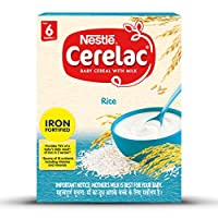 Nestlé CERELAC Fortified Baby Cereal with Milk, Rice – From 6 Months, 300g BIB Pack