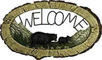 川のエッジBear Welcome Sign 1380