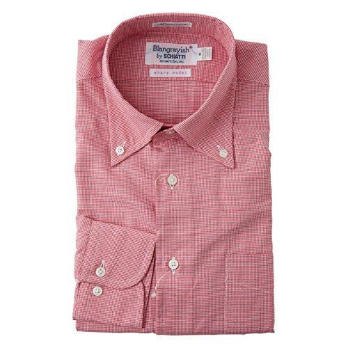 SCHIATTI(スキャッティ)Blangrayish  ボタンダウン ドレスシャツ RD col67 (M)