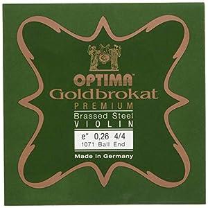 ゴールドブロカット プレミアム ブラス バイオリン弦 E線 (0.26ボールエンド)