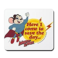 CafePress–Mighty Mouse : Save the Day–ノンスリップゴムマウスパッド、ゲームマウスパッド