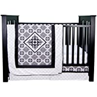 Trend Lab Versailles Black And White 3 Piece Crib Bedding Set by Trend Lab