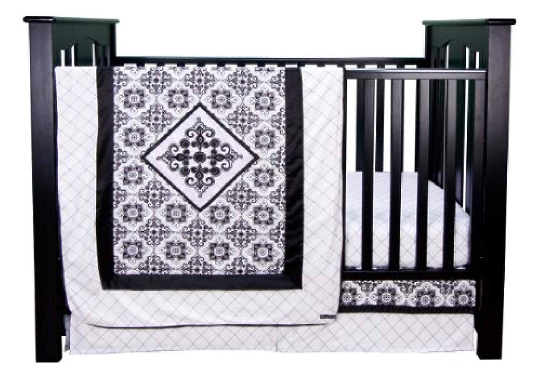 Trend Lab Versailles Black And White 3 Piece Crib Bedding Set by Trend Lab