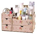 (ティーオー ニックナック) TO nicknack 収納 いっぱい DIY 組み立て 式 コスメ ジュエリー ボックス 木製ストレージ BOX スタンド 引き出し (花柄)