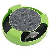 【猫 のための おもちゃ】 猫夢ちゅ~ ねずみ を追いかける ストレス発散 運動不足 解消 ペット用品 (グリーン)