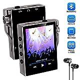 Gueray 音楽プレーヤー MP3プレーヤー HIFI超高音質 Bluetooth4.2 FMラジオ 16GB内蔵容量 最大128GBまで拡張可能 録音 TFカード対応 イヤホン付属 日本語説明書付き 【令和新型】(ブラック)