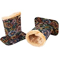 Pack of 2 Eyeglass Holders - Eyeglass Stands with Soft Plush Lining - Eyeglass Holder Stands 4.5 x 4.7 x 3.2 Inches Floral Design