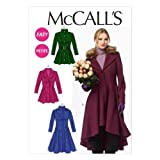 McCall Pattern Company M6800 Misses'/Miss Petite Lined Coats, Belt, Detachable Collar and Hood Sewing Template, Size A5 (6-8-10-12-14) by McCall Pattern Company [並行輸入品]