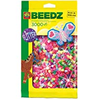 SES Creative Children's Iron on Beads (Mix Glitter, Pack Of 3000)