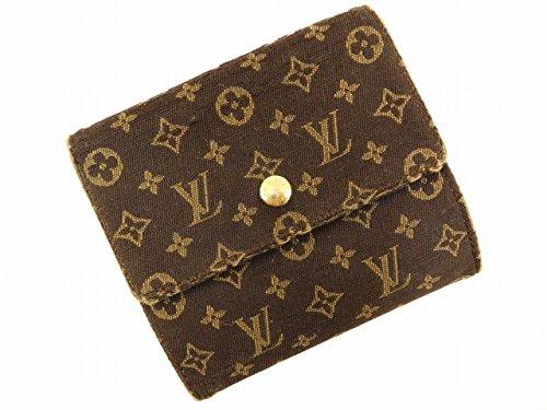 [ルイヴィトン] LOUIS VUITTON 二つ折り財布 モノグラムミニ M95233 キャンバス×レザー X16044 中古