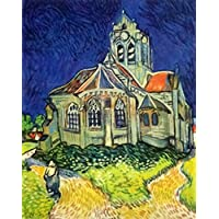 絵画 ゴッホ『オヴェールの教会』 41×36cm gohho-5