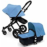 Bugaboo 2015 Cameleon 3 Stroller With Extendable Canopy, All Black/Ice Blue by Bugaboo