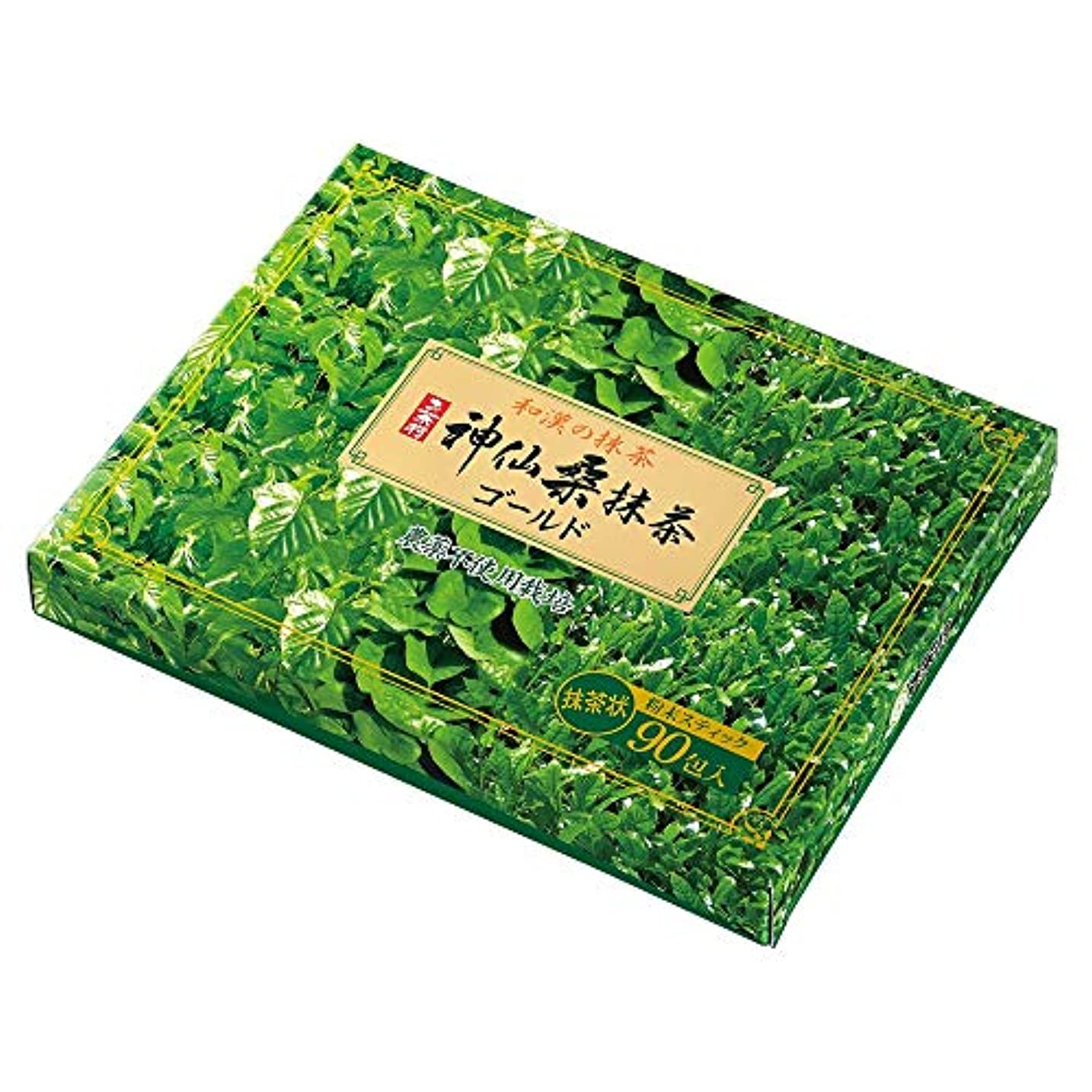 カッター記念米国お茶村 青汁 神仙 桑抹茶 ゴールド 90包 入り