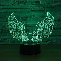 SproudNL 天使の翼3D LedランプUsbパワードカラフルタッチ3Dナイトライトデスクテーブルランプベビースリーピングライトキッズ最高の贈り物