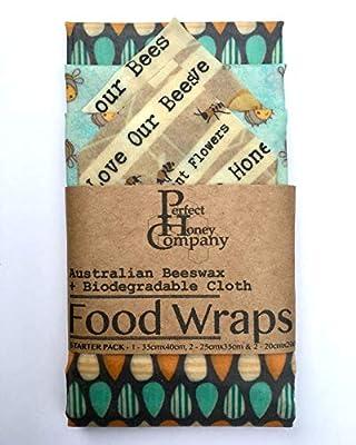 Beeswax Food Wraps | Starter Pack of 5 | Australian Bees Wax - Random Selection