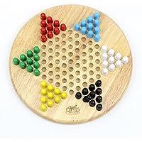 Goodgoods 五目ならべ キッズ 両面 木製おもちゃ 連珠 知育玩具 チェッカー ダイヤモンドゲーム 013-lzgy-070(直径25cm 約750g)