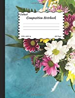 Unlined Composition Notebook: Colorful Roses blank drawing book, Plain Notebook / Journal, for your Dairies, Notes 110 pages, Standard Composition Size