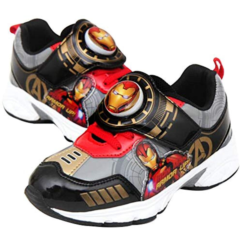 [アベンジャーズ] Avengers ヒーロー スパイダーマン アイアンマン キャプテンアメリカ キッズ 男の子 ライトアップ スニーカー シューズ ぴかぴか光る 靴 [並行輸入品]