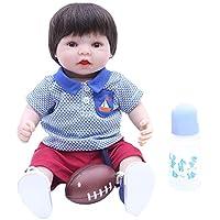 D DOLITY リアル 40cm赤ちゃん人形 哺乳瓶 マグネットおしゃぶり 新生児人形セット