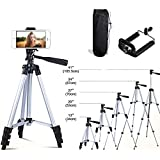 41 Inch Portable Aluminum Tripod with Smartphone Mount & Bag