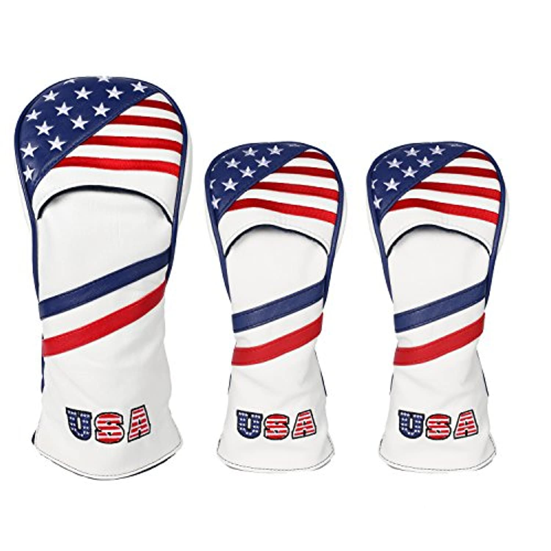 USA Flagゴルフウッドヘッドカバー