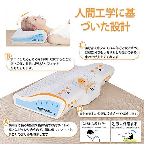 Autofeel 枕 人気 安眠 肩こり まくら ネックフィット枕 B07G1VW41C 1枚目