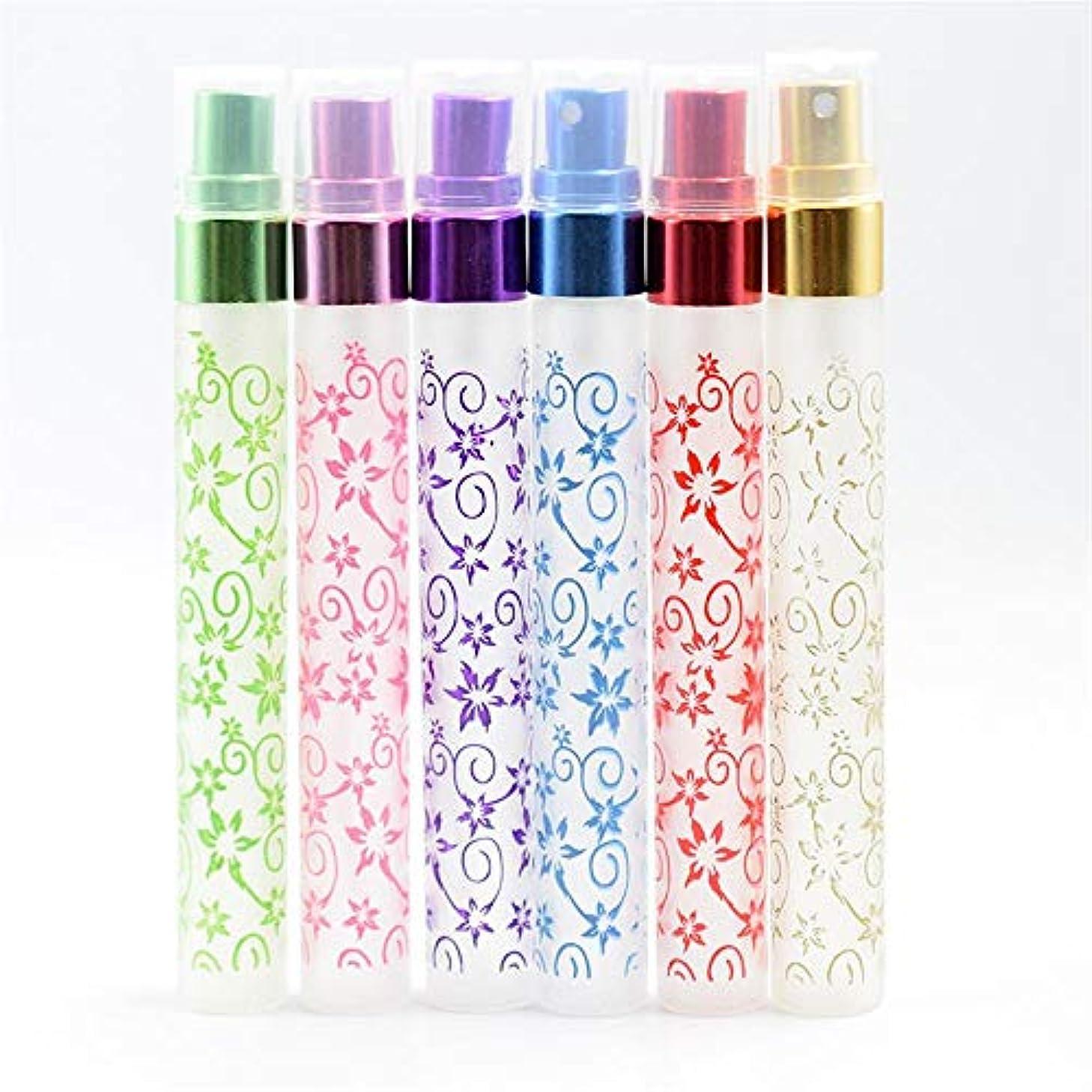 シンボルほんのドアミラーアトマイザー 花柄 詰め替えボトル 香水瓶 化粧水用瓶 アトマイザー ポンプ 6個 10ml