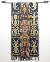 MANJA アウトレット スンバイカット マルチクロス 貝殻ビーズ装飾 (幅約58cm 長さ約220cm) CLO-0008-03