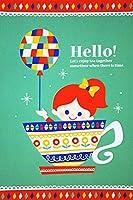 おたより本舗 ポストカード「Hello!」 by ほりいえみ A024_20 20枚