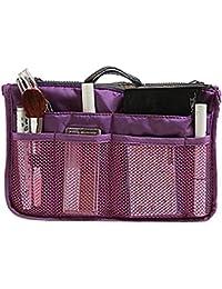 Sherryバッグ メイク ボックス メイクバッグ 多機能 大容量 収納バッグ インナーバッグ 化粧品収納ポーチ メイクバッグ 旅行 通勤 便利グッズ bag in bag 三種類の色 ピンク パープル グレー