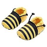 ビーシューズ ファーストシューズ 子供 靴 赤ちゃん 滑め防ぐ靴 室内履き ルームシューズ ソフトソール 出産お祝いプレゼントにも フォーマル (11cm, イエロー)