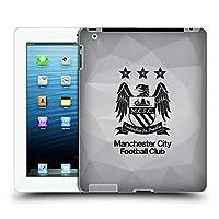 オフィシャルManchester City Man City FC フレー フル・ブラック クレスト・ジオメトリック ハードバックケース Apple iPad 3 / iPad 4