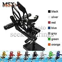 MSX-moto 可倒式 調整型 CNC アジャスタブル バックステップ 適応ヤマハ Yamaha YZF R6 2003 2004 2005 黒/ブラック