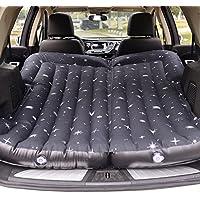 車のエアベッドインフレータブルマットレス背もたれクッション旅行キャンプレスト自動セックスベッドPVCフロッキング拡張ソファー164 * 132センチメートル ( 色 : ブラック )