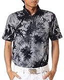 (カールカナイ ゴルフ) KarlKani GOLF ポロシャツ ベア天竺 ムラ染め シャツ72KG1212 ブラック Mサイズ