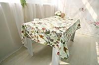 花植物テーブルクロスレジャーダイニング洗えるクリスマス印刷コーヒーテーブル装飾中国スタイル雑巾 , White , 140*140cm
