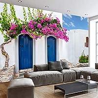 Weaeo カスタム壁紙の壁画ロマンチックなギリシャヨーロッパの建築のテレビの背景壁画の壁紙の壁紙壁紙-200X140CM