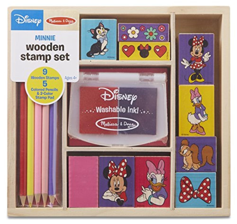 Melissa & Doug Disney Minnie Mouse木製スタンプセット: 9スタンプ5色鉛筆、および2色スタンプパッド